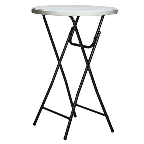 CROSS 08215 - Table Mange Debout Pliante - 80 x 110 cm - Légère et Résistante - Blanc