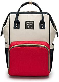 Large Capacity Fashion Waterproof Mummy Diaper Bag with Back Hide Pocket Multifunction Use for Travel Backpack, Tote Handb...