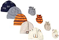 Gerber Baby Boys' 9-Piece Cap and Mitten Bundle from Gerber Children's Apparel