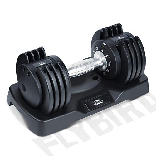 FLYBIRD Adjustable Dumbbells,25 lb Single Dumbbell...