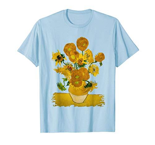 Vincent Van Gogh - 12 Sonnenblumen in der Vase Sommer Garten T-Shirt