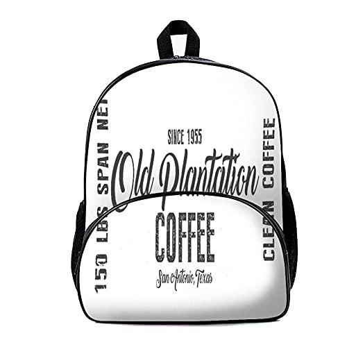 Mochila escolar bolsa de café 18x30x40cm viaje portátil mochila