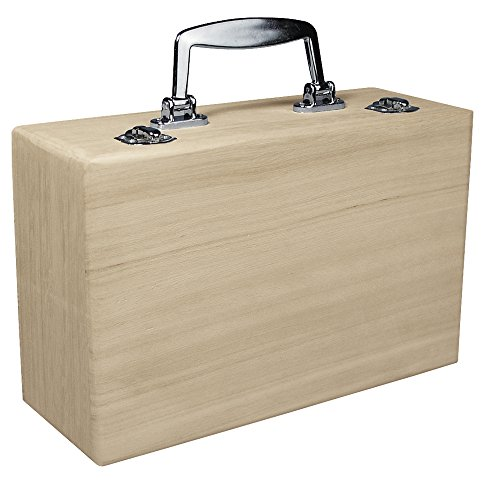 RAYHER Wooden Suitcase with Handle, 25 x 16 x 9 cm