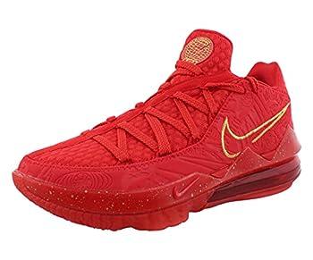 Nike Men s Lebron XVII Low PH Titan University Red/Metallic Gold  CD5008 600  - 8.5