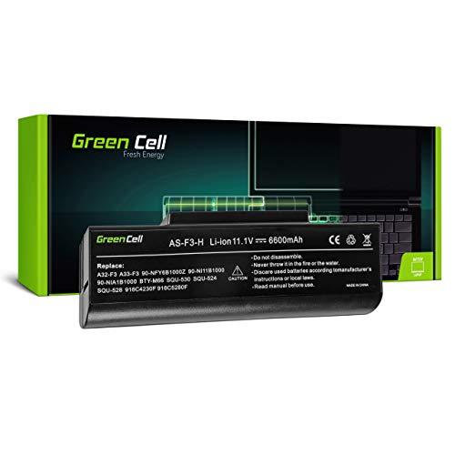 Green Cell 6-87-M76SS-4U4 70-NFE1B2200Z 90-NI11B1000 90-NIA1B1000 A32-F3 A33-F3 AS-F3-6 AS-F3-H Batería para ASUS Portátil (6600mAh 11.1V Negro)