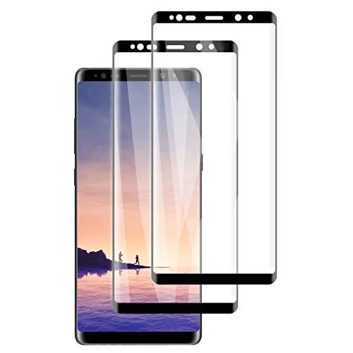 PUUDUU [2 Pièces Verre Trempé pour Samsung Note 8 Film Protecteur, Anti Rayures, Dureté 9H, sans Bulles - Transparent,Protection Écran pour Samsung Note 8