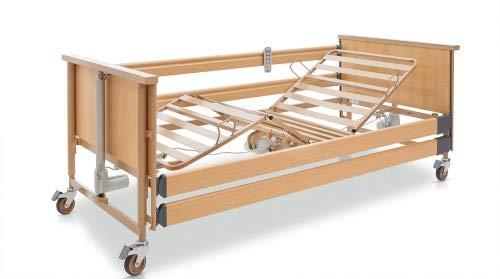 Burmeier Pflegebett Dali Standard mit Holzseitengitter Seniorenbett