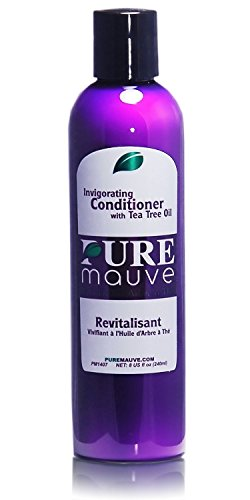 Tea Tree Oil Conditioner, Pure Mauve Sulfate Free for Damaged Color Treated Hair, Adds Volume to Thinning Hair, Calms Dry Scalp