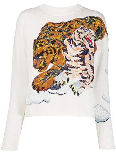 Luxury Fashion | Kenzo Dames FA52PU5083XI03 Wit Acrylic Truien | Lente-zomer 20
