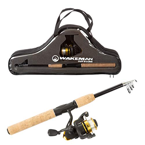 Wakeman Ambidextrous Reel Combo with Carry Case for Lake