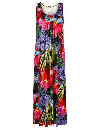 Alba Moda Damen Maxi Kleid in Multicolor aus Viskose