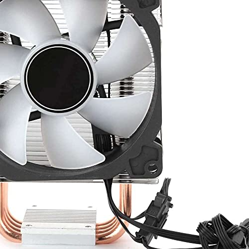 Yuyanshop Ventilador de refrigeración para CPU, 5 V RGB PWM Color Ventilador de latón 4 tubos de calor Torre ventiladores disipador de calor compatible para Intel/AMD