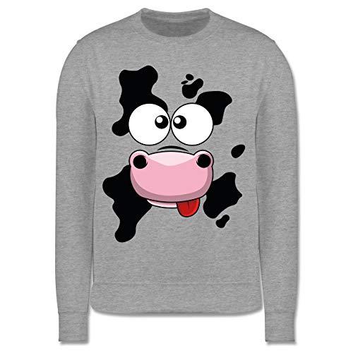 Shirtracer Karneval & Fasching Kinder - Kuh Kostüm - 116 (5/6 Jahre) - Grau meliert - Kuh Kostum - JH030K - Kinder Pullover