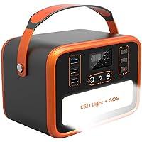Necespow 50400mAh Solar Portable Power Station Generator, SOS Light for Camping Home Emergency