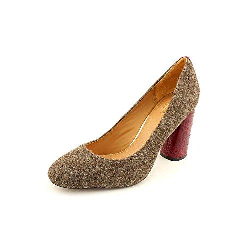 Coach Women's Ophelia Pump Sand/Bordeaux Shoes (8.5)
