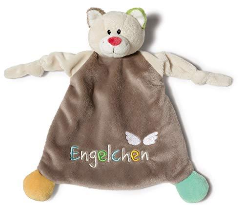 NICI Schmusetuch Katze 'Engelchen´ 25 x 25 cm – Katze Schnuffeltuch ab 0+ Monaten – Kuscheltuch für Babys & Kleinkinder – Baby Kuscheltier / Schnuffeltuch – Schmusetuch für Mädchen & Jungen – 40035