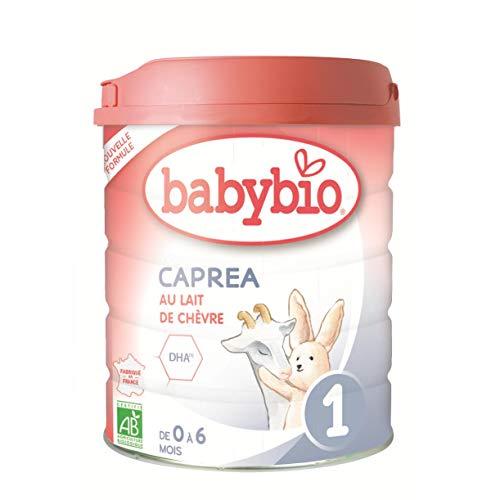 BabyBio Lait de chèvre Bio Capia 1 (0 à 6 Mois), Standard, Unique
