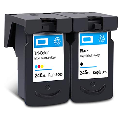 Cartucho de tinta PG-245XL CL-246XL, repuesto de alto rendimiento para impresora Canon Pixma MG2920 MG2520 MG2922 MX492 TS202 TS302 TR4520 negro y tricolor 1 negro 1 tricolor