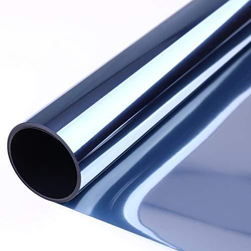 VPCOK Vinilo para Ventanas Efecto Espejo, Vinilo Espejo,Lamina Espejo Adhesiva Anti 99% UV y Control de 85% Calor Adecuada Baño, Hogar y Ofocina.(44.5 * 200CM)