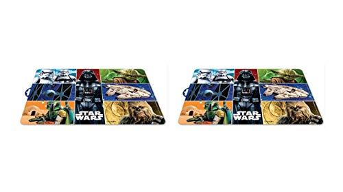 2464; pak 2 tafelkleden Star Wars klassiek, 7 afbeeldingen; afmetingen 43x29 cm; plastic product; Geen BPA