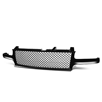 Replacement for Silverado Tahoe Suburban Badgeless Diamond Mesh Front Upper Bumper Grille Guard(Glossy Black) GMT800 1500