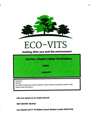 Natural Vitamin E Mixed Tocopherols (500iu) 240 Capsules