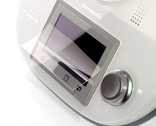 dipos I 2X Schutzfolie klar kompatibel mit Vorwerk Thermomix TM5 Folie Displayschutzfolie
