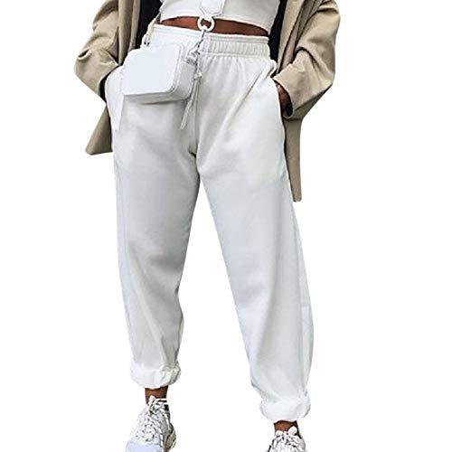 OEAK Jogginghose Damen Sporthose Freizeithose High Waist Sports Pants Trainingshose mit Taschen Elastisch Bund Sweathose