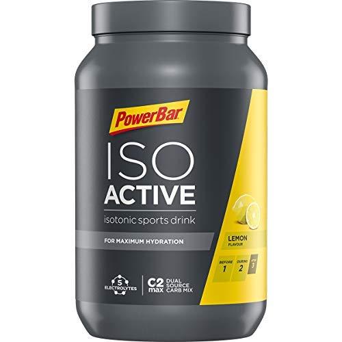 PowerBar Isoactive Lemon 1320g - Bebida Deportiva Isotónica - 5 Electrolitos + C2MAX