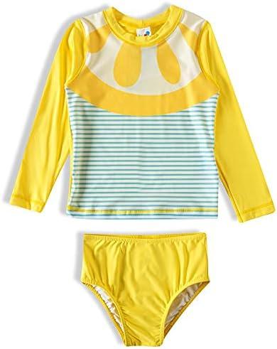 Tip top Swim Two-Piece Long Sleeve with Lemon Print