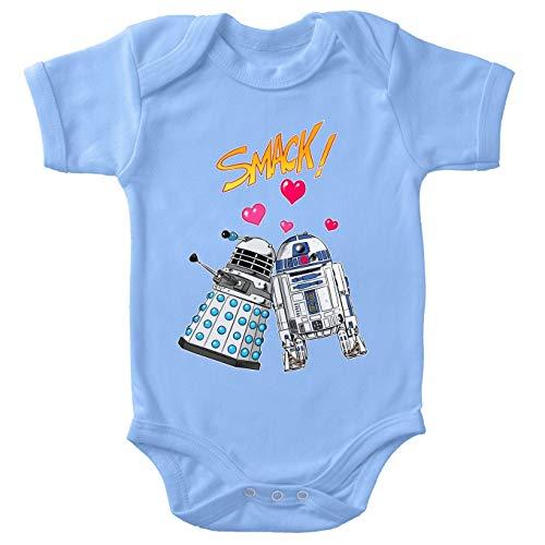 Doctor Who - Star Wars Lustiges Blau Baby Strampler - R2-D2 X Dalek (Doctor Who - Star Wars Parodie) (Ref:1060)