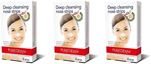 Purederm Deep Cleansing Nose Pore Strips (3 Pack - 18 Strips)