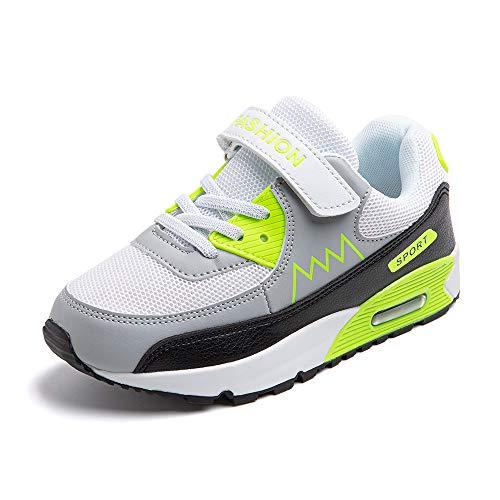 Scarpe da Ginnastica Bambino Ragazze Ragazzo Ragazzi Scarpe Sportive Running Corsa Sneakers Traspiranti Outdoor Indoor Arancione Verde Blu EU 31-38 Verde 34