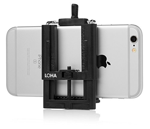 LOHA Flexible Phone Tripod Adapter for Universal Smartphones including Apple iPhone and Samsung Galaxy
