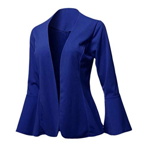 Hffan Damenanzug Jacke Strickjacke Anzug Herbstjacke Blazer Cardigan Elegant Leicht Bolero Slim Fit Trenchcoat