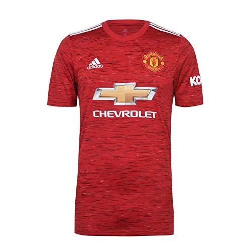 Manchester United FC - Herren Heimtrikot von 2020/21 - Offizielles Merchandise - Geschenk für Fußballfans - Rot - XL