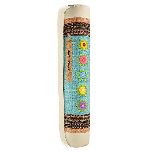 HappySnapGifts Bolsa para esterilla de yoga personalizada con opciones de diseño (flores, delgada, 70 x 10 cm)