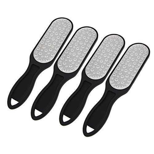 Bonarty 4 Pc Foot Rasp File Scrubber Hard Dead Rough Skin Callus Remover 2 Side