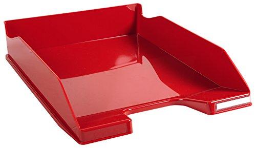 Exacompta Iderama - Bandeja de correo, color rojo carmín glossy
