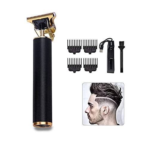 Cortapelos Profesional Hombre,Máquina Cortar Pelo Inalámbrico da Batería,con 4 Peines Guía Maquina Cortar Pelo,Recortadora de Barba para Hombres Impermeable, para Casa y Corte de Pelo.