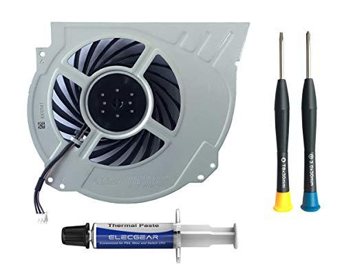 ElecGear Ventola di Raffreddamento Interna Sostitutiva per PS4 PRO CUH-7xxx – Parte di Ricambio della CPU Cooling Fan, Pasta Termica, TR8 PH0 Set di cacciaviti Tool per Playstation 4 PRO