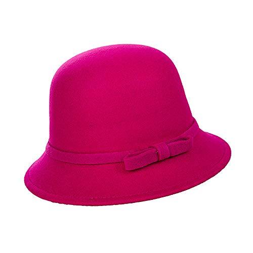 Weier. Ben Women's hoeden herfst en winter warme wilde koepel wollen wastafel hoed mode elegante boeg hoed vrouwen
