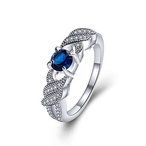 IWINO eenvoudige stijl ring vrouwelijke zirkoon ring vintage kroon ring saffier ring armband sieraden