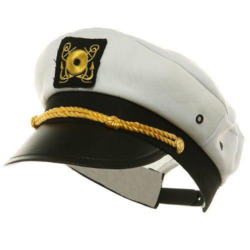 MyPartyShirt Yacht Capitaine Chapeau Costume Adulte Cap Blanc réglable Sailor Gilligans île