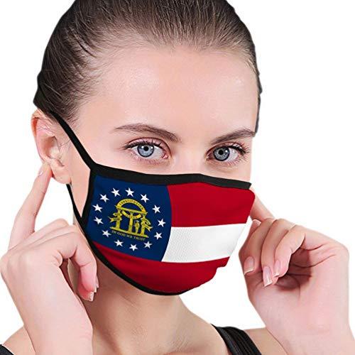 Sciarpe per bocca regolabili con orecchino per bandiera esterna dello stato della Georgia, dimensioni corrette, colori stampati C-o-v-e-r