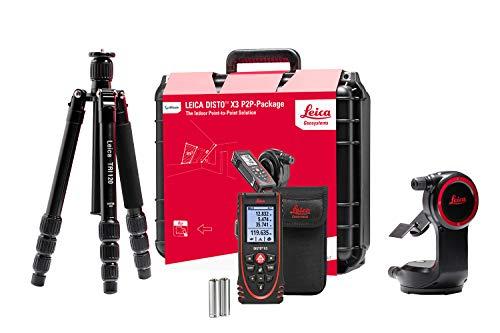 Leica Geosystems Leica DISTO X3 P2P - Distanziometro laser, colore: Nero/Rosso