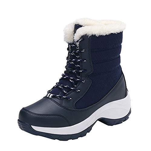 Botas de Nieve para Mujeres,BBestseller Zapatos de Viaje Antideslizantes al Aire Libre, además de Zapatos de Terciopelo de algodón cálido