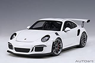 Porsche 911 (991) GT3 RS White with Dark Grey Wheels 1/18 Model Car by Autoart 78166