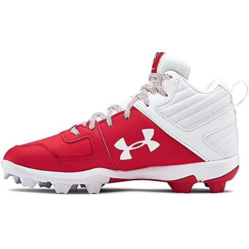 Under Armour Kids' Leadoff Mid Rm Jr. Baseball Shoe