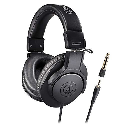 【Amazon.co.jp限定】audio-technica プロフェッショナル モニターヘッドホン ATH-M20x/1.6 ケーブル長1.6m スタジオレコーディング/楽器練習/ミキシング/DJ/ゲーム/在宅勤務/テレワーク
